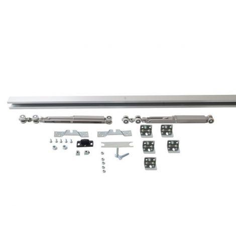 Фото Комплект креплений для сдвижных дверей до 40 кг с системой мягкого закрывания с направляющей 2 м Механизмы для раздвижных дверей 7