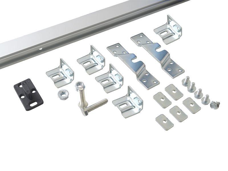 Фото Комплект креплений для сдвижных дверей до 40 кг с системой мягкого закрывания с направляющей 2 м Механизмы для раздвижных дверей